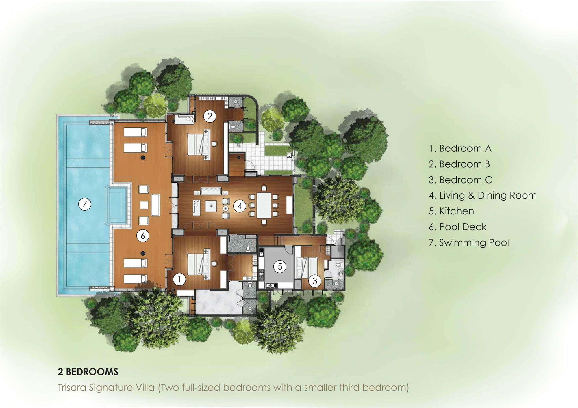 2Bedroom-Trisara Signature Villa with Third Bedroom