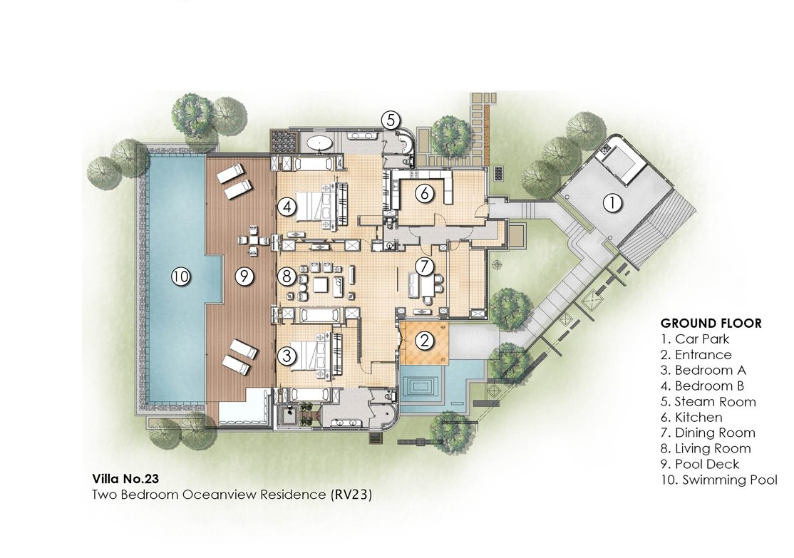 PRIVATE POOL RESIDENCES • 2-BEDROOM RESIDENCES